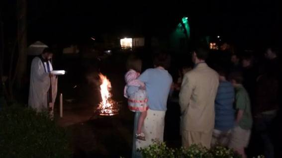 Blessing Paschal Fire Easter 2015