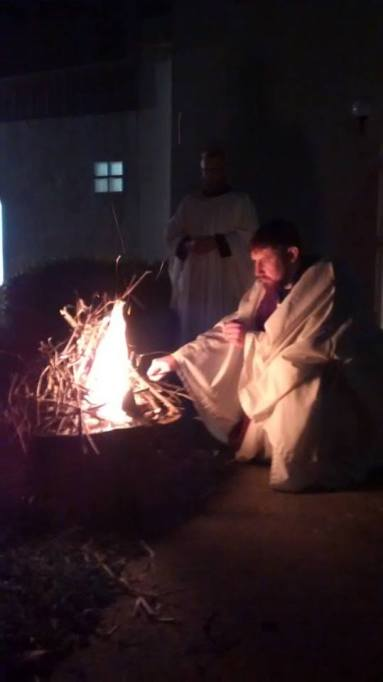 Paschal Fire Easter Vigil 2015